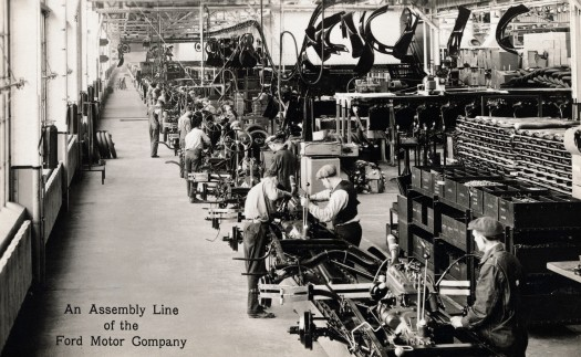 Postcard of Ford Motor Company's River Rouge Plant