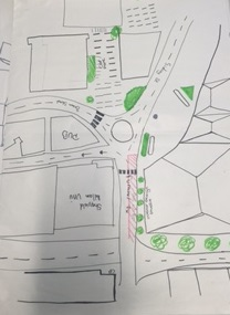 This was our first map drawing as a group of our chosen area of Sheffield, it supports the idea of creating positive space, as all roads interlock and connect the area, making it a 'place'.