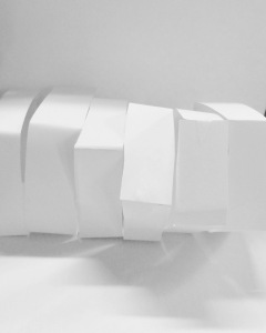 My sketch model copies, made from paper.