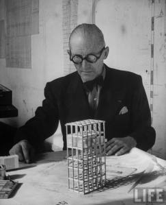 'Architect Le corbusier in his early stages of planning'