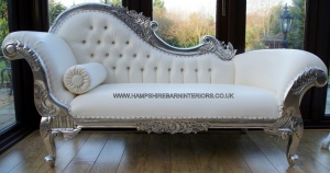 (Fig.14) White chaise lounge