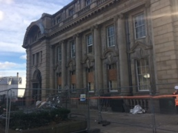 (Fig.4) Photos of the current refurbishment of the post office taken by myself, 17.11.15